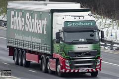 Volvo FH 6x2 Tractor - PX60 CKV - Nichole Louise - Eddie Stobart - M1 J10 Luton - Steven Gray - IMG_7457