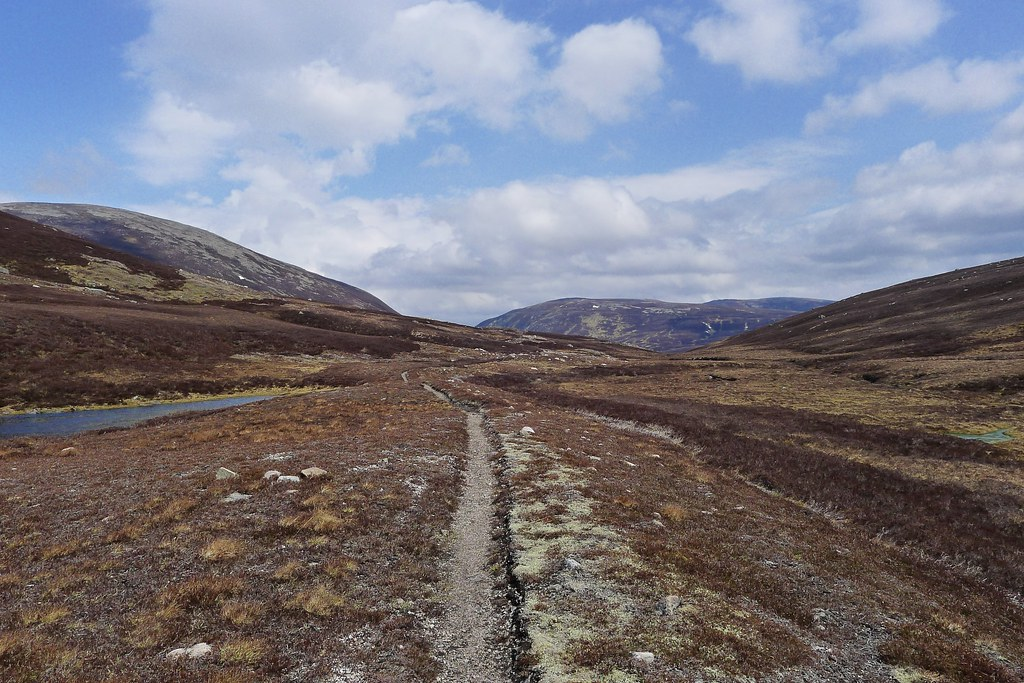 Track towards Glen Gairn