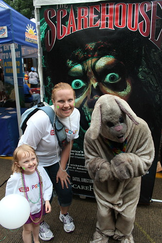creepy kid and ScareHouse Bunny