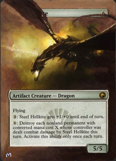 Steel Hellkite Magic the Gathering Card Altered Art MTG Artwork