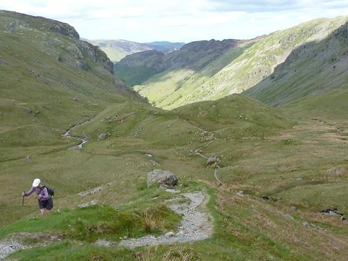 climbing toward Lining Crag