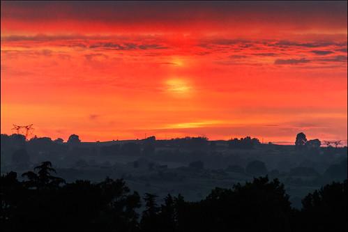 trees sunset red sky italy orange sun rome landscape outdoors europe italia view balcony hills lazio castelnuovo castelnuovodiporto 55250mm