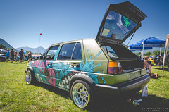 automobile, vehicle, volkswagen golf mk2, city car, land vehicle, hatchback,