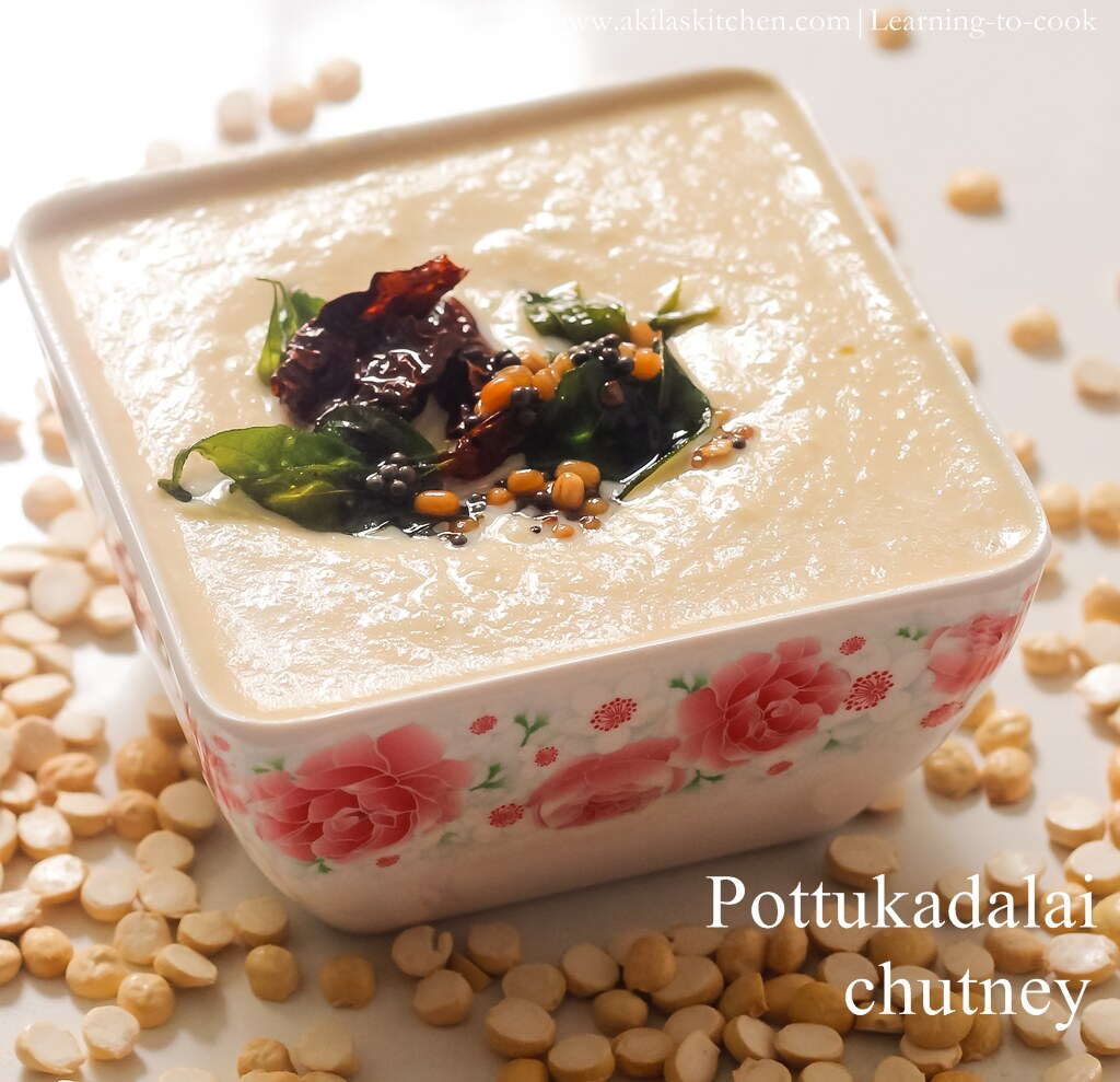 How to make pottukadalai chutney