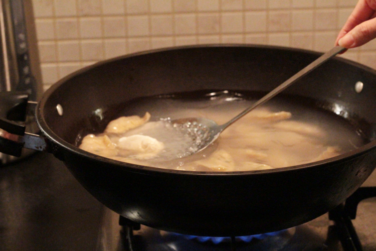dumplings cooking