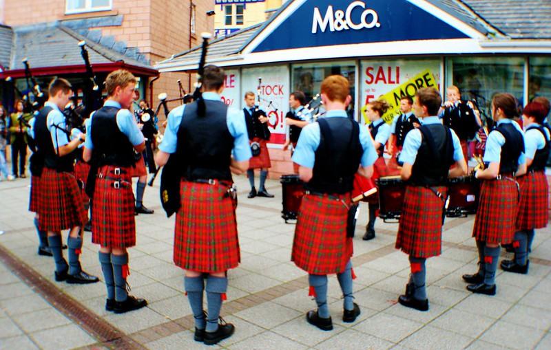 Oban High School Pipe Band, Scotland