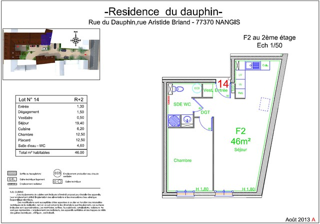 Résidence du Dauphin - Plan de vente - Lot n°14