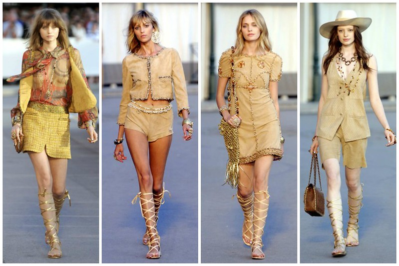 UK Fashion Blog, London Style Blogger, Knee-High Gladiator Sandals, Gold, Chanel, Resort 2011, How to Wear, Catwalk, Runway