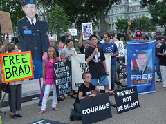 Rally for Bradley Manning