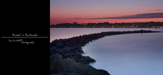 Sunset in Santander