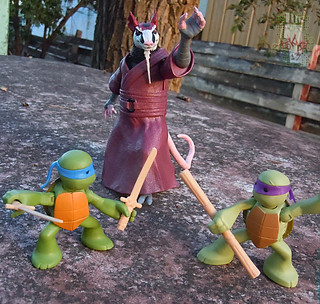 Nickelodeon  TEENAGE MUTANT NINJA TURTLES :: NINJAS in TRAINING, LEONARDO & DONATELLO xv // .. training with Splinter (( 2013 ))