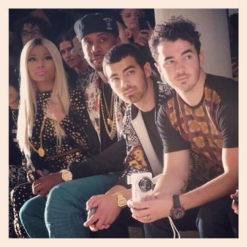Nicki Minaj, ASAP Rocky & The Jonas Brothers Attend Jeremy Scott NYFW Show