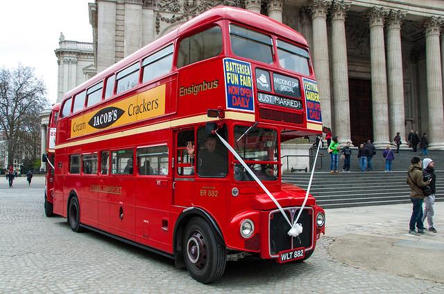 Au volant d'un bus à impériale londonien ! ^^