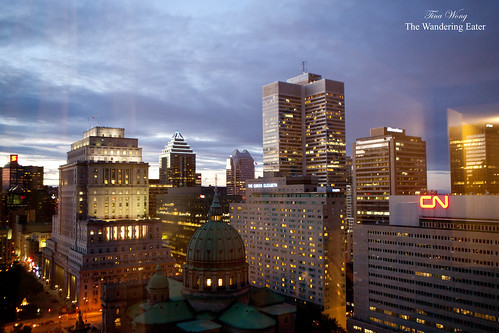 The view from my room at Marriott Chateau Champlain in Montreal, Canada