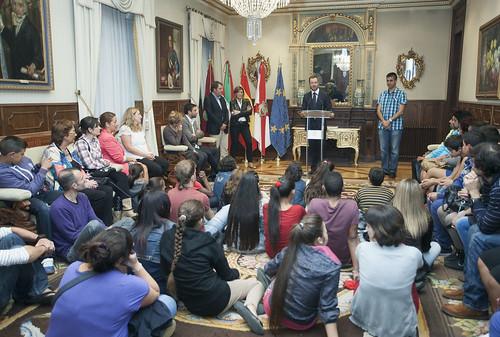 Recepción al colegio público integrado Sansomendi IPI (1-10-2013)