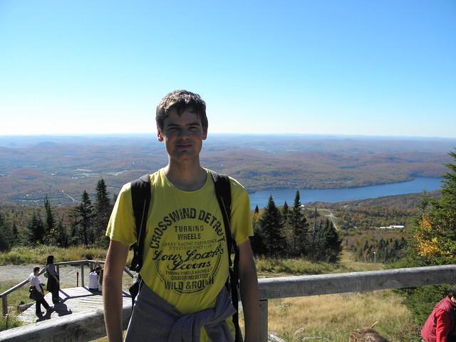Já na vrcholu Mt. Tremblant