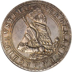 Lot #20142. AUSTRIA. Holy Roman Empire. 2 Taler, ND (1564-95) obverse