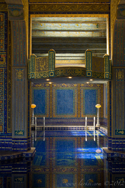 Roman Pool Diving Platform, Hearst Castle, San Simeon, California
