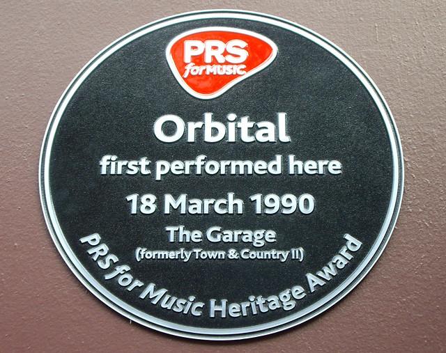 Photo of Orbital, Phil Hartnoll, and Paul Hartnoll black plaque