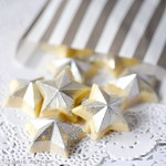 Silver glittered chocolate stars