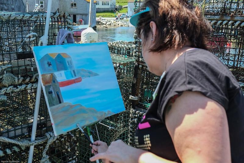 Nova Scotia Artist --Peggy's Cover Artist's Festival 2013