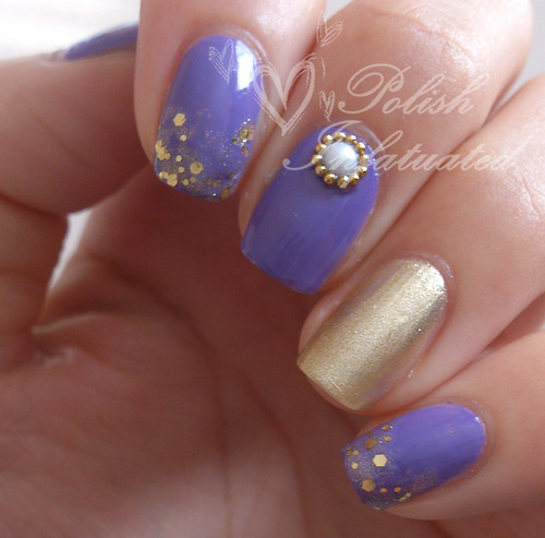 simple purple & gold skittle