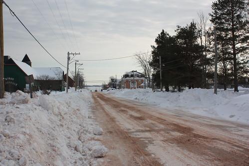 street winter snow canada town georgetown princeedwardisland pei kingscounty