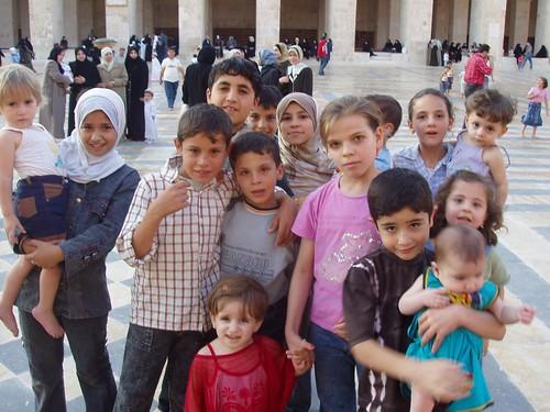 Niños en Damasco (Siria)