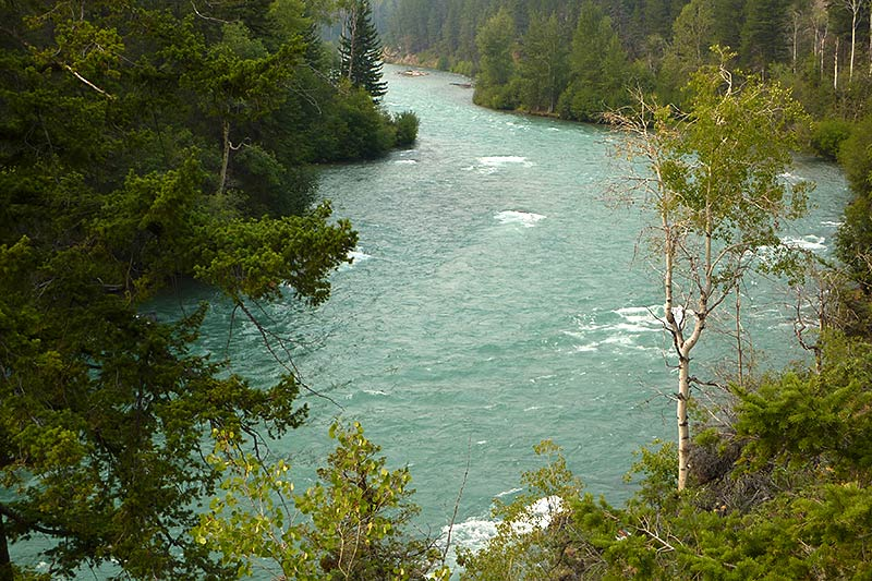 Chilko River at Taseko River Junction Recreation Site