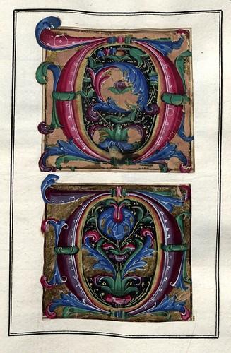 002-Álbum de las iníciales medievales -fol. 9r- Biblioteca Nacional de Polonia