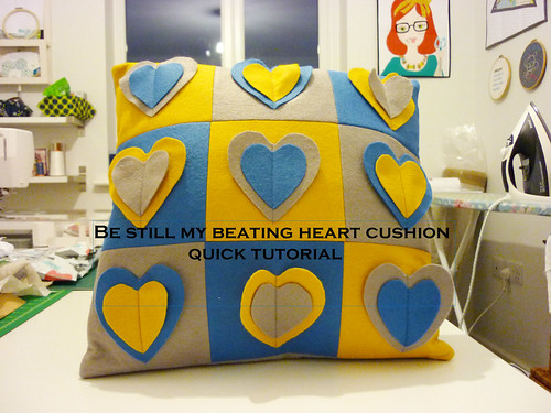 Be still my beating heart cushion tutorial