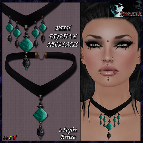 [PROMO!] *P* Egyptian Jade MESH Necklaces