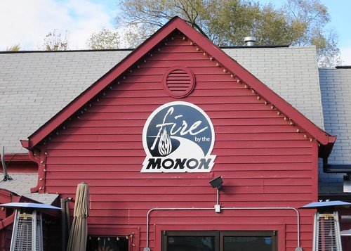 Fire by the Monon Exterior Building Sign by Redirections Sign & Design
