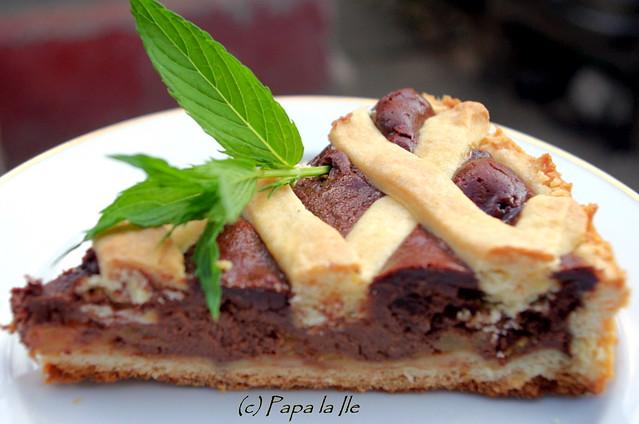 Tarta cu ciocolata si nectarine (12)