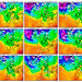 Předpověď teploty pro hladinu 850 hPa (asi 1500 m n. m.)., foto: www.wetterzentrale.de
