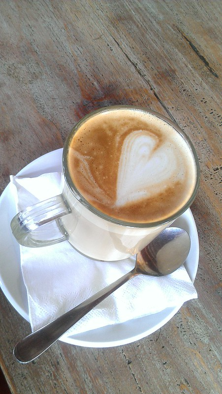 Latte from cafe vespa