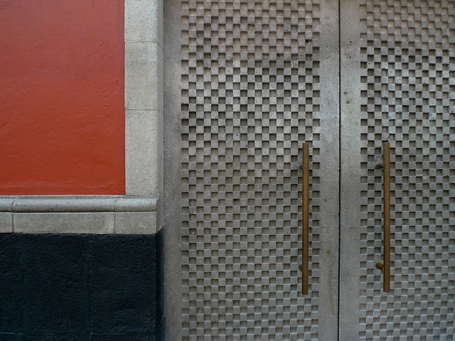 Concrete patterned door