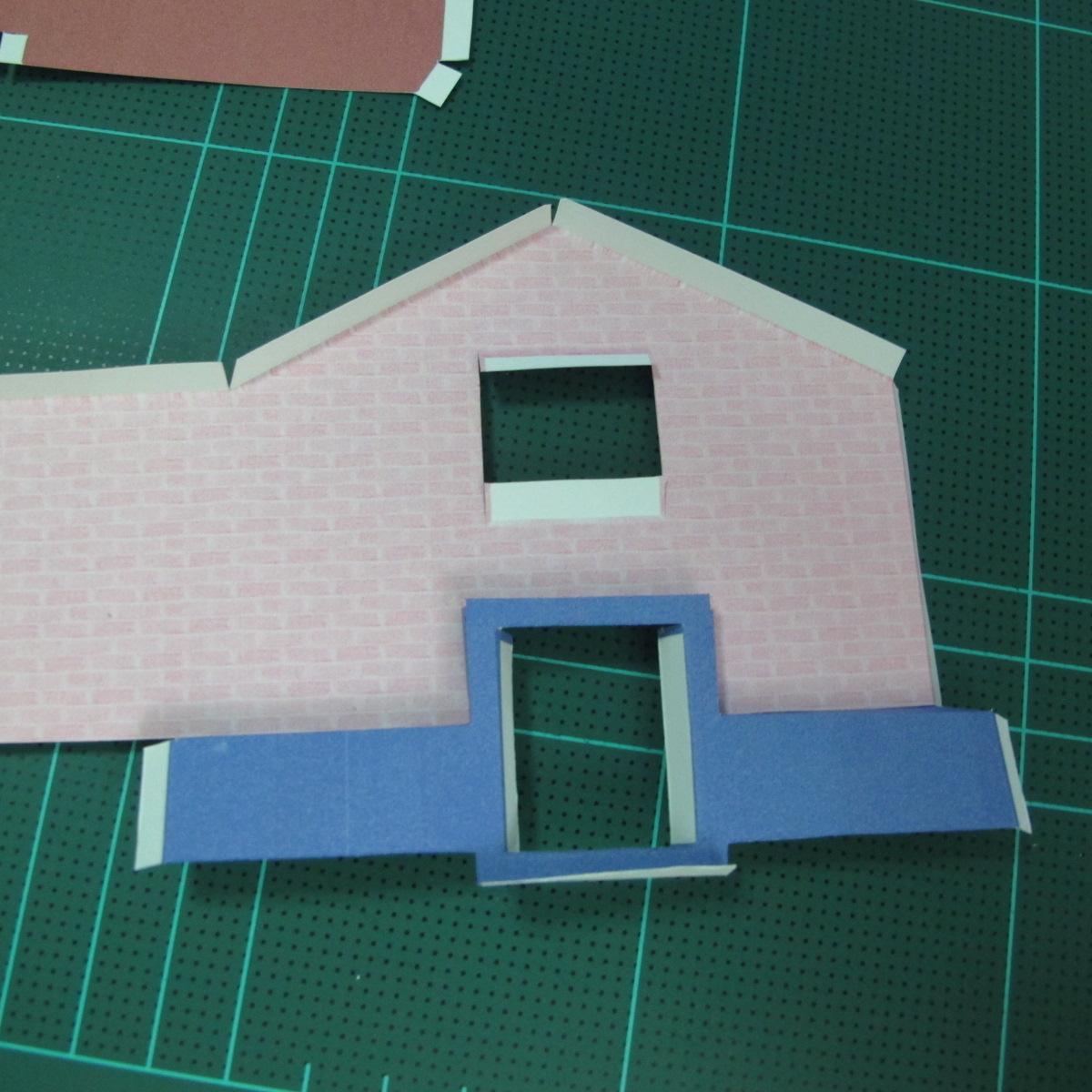 วิธีทำโมเดลกระดาษเป็นรูปบ้าน (Little House Papercraft Model) 004