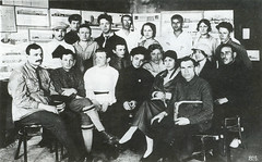 group of students architecture faculty, 1926