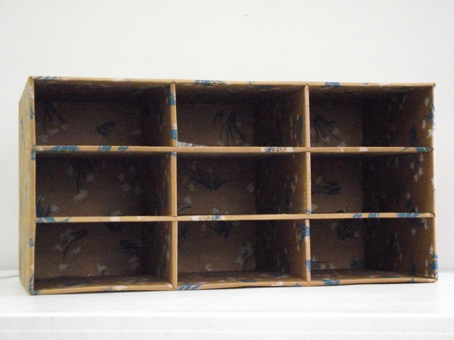 Cardboard shoe storage