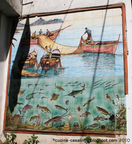 FliesenBild vor Fischladen