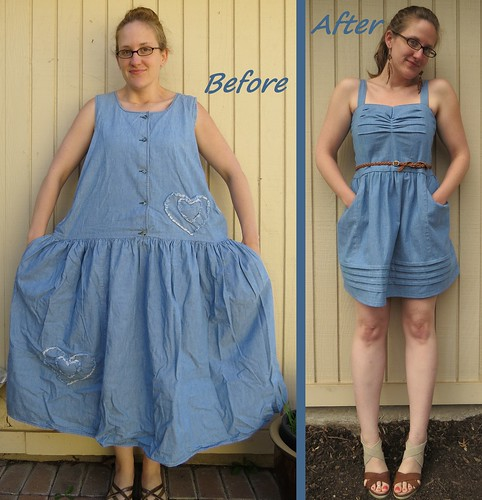 Denim Sundress - Before & After