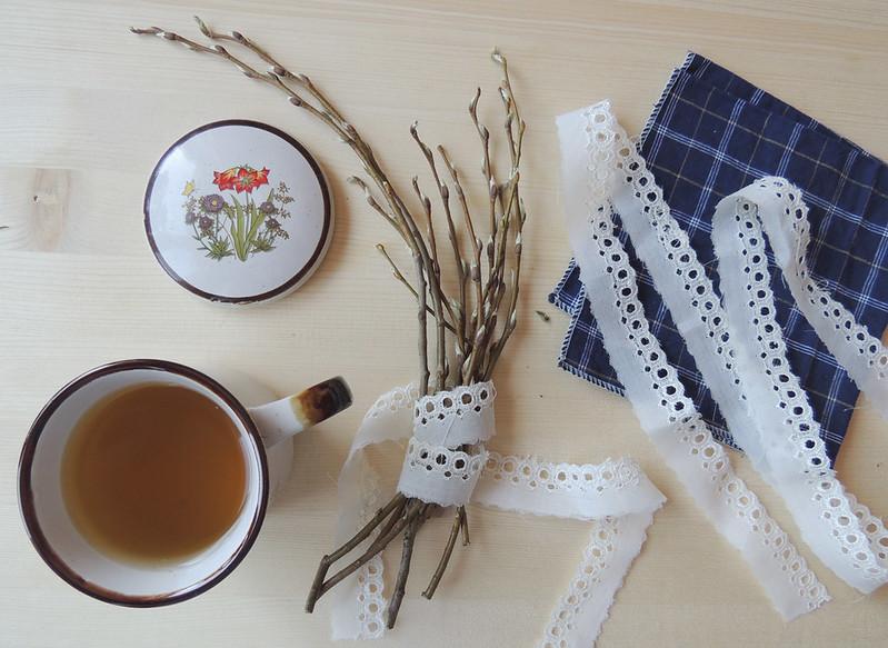 весенний чай и веточки 3