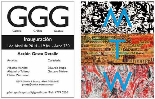 Acción Gesto Detalle // Galería Gráfica Gestual / Buenos Aires