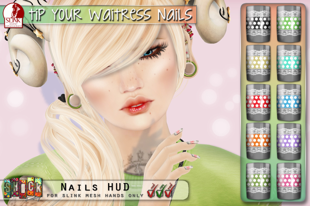 [ S H O C K ] Slink Tip Your Waitress Nails Vendor @ 100 Block Fashion Fair