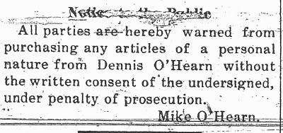 2-5-2011 Dennis O'Hearn notice