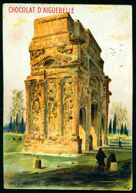 French Tradecard - Arc de Triomphe, D'Orange