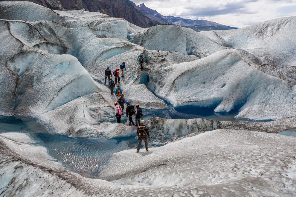 El Glaciar Viedma ofrece uno de los recorridos y atractivos más increíbles de la región para el turista aventurero, con tours de trekking que duran todo el día y permiten recorrer el glaciar con guías especializados. (Tetsu Espósito).