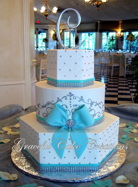 Wedding Cake Blue Ribbon