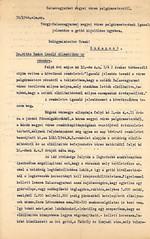 V/6.c. Balassagyarmat polgármestere a gettó kijelölésével kapcsolatos intézkedéseiről tesz jelentést a belügyminiszternek. Balassagyarmat, 1944. május13. 6_388a